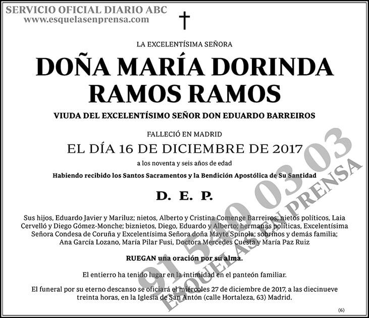 María Dorinda Ramos Ramos